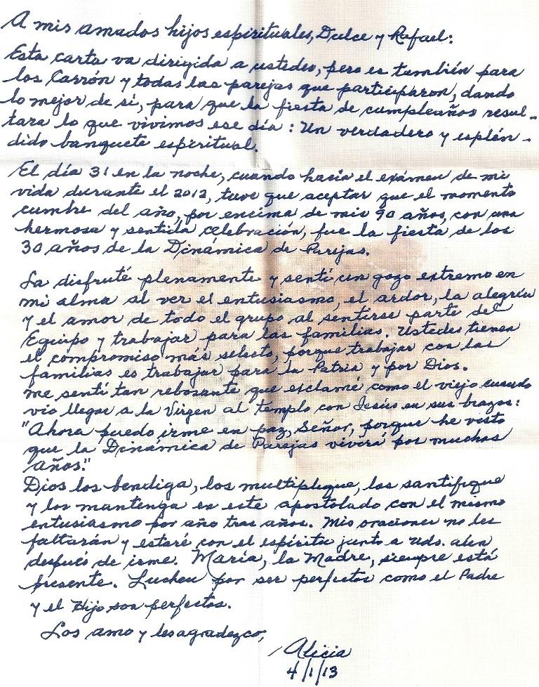 Carta de Agradecimiento a Dipar